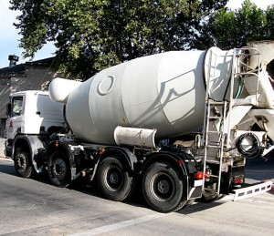 ecological concrete, cement mixer